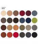 Couleur gamme tissu Sawana pour fauteuil UNI-KA piétement teinté noir, assise garnie, habillage tissu synthétique