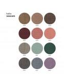 Autre gamme tissu, cuir, velours pour fauteuil UNI-KA, coque effet matelassé, piétement noir