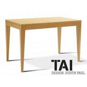 TAI - Table d'appoint rectangulaire, finition bois hêtre naturel.
