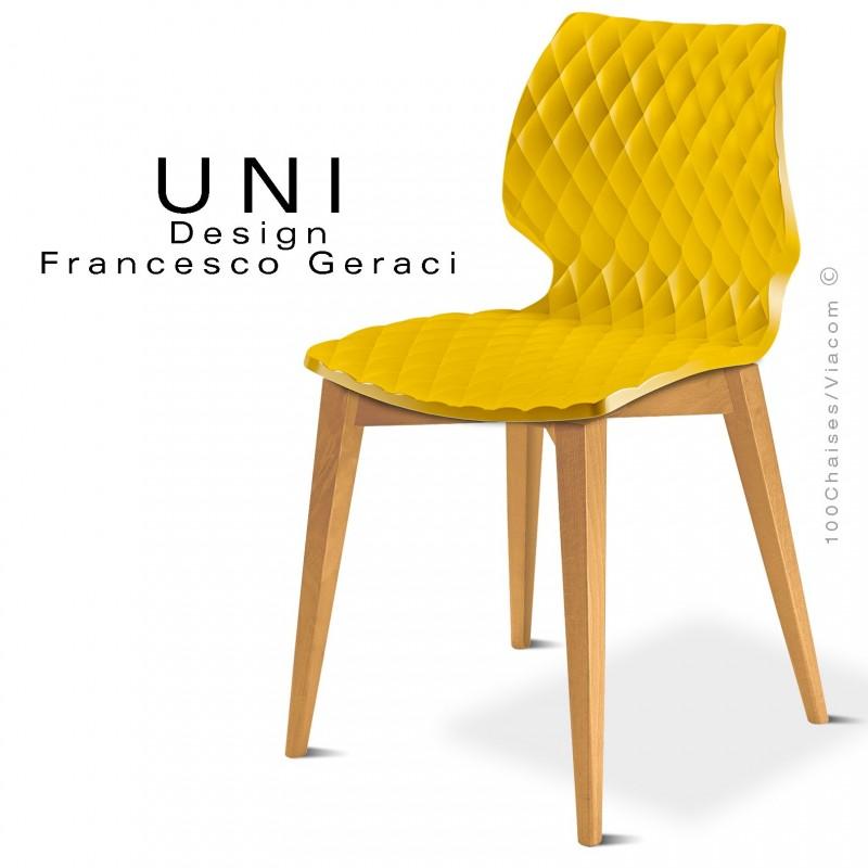 MatelasséPiétement Vernis Coque Effet Chaise Conique Bois Uni Design Naturel 5j3RA4L