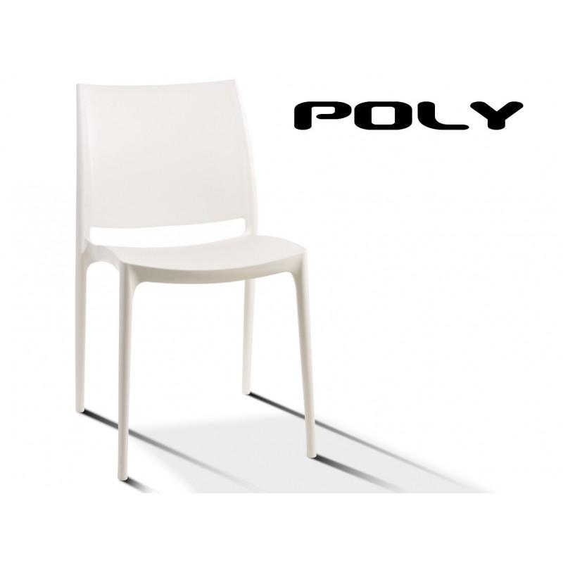 POLY, structure polypropylène de couleur blanche.