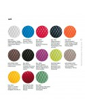 Palette couleur assise tabouret de bar design UNI, assise coque effet matelassé, piétement vernis ou peint