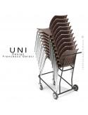 Chariot de manutention pour chaise design UNI.