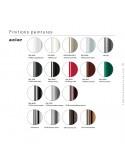 Gamme couleur finition piétement pour chaise design UNI, coque effet matelassé.