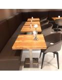 Moblier en situation du fauteuil UNI-KA, coque effet matelassé couleur, assise garnie, habillage cuir synthétique ou tissu.
