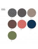 Tissu gamme REVIVE du fabricant Kvadrat pour l'habillage de l'assise du fauteuil UNI-KA.