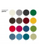 Chaise design UNI, gamme tissu Europost-2 du fabricant Gabriel, couleur au choix