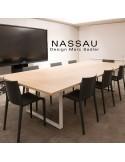Chaise Nassau exemple en situation mobilier d'intérieur ou d'extérieur pour hôtel, restaurant, jardin.