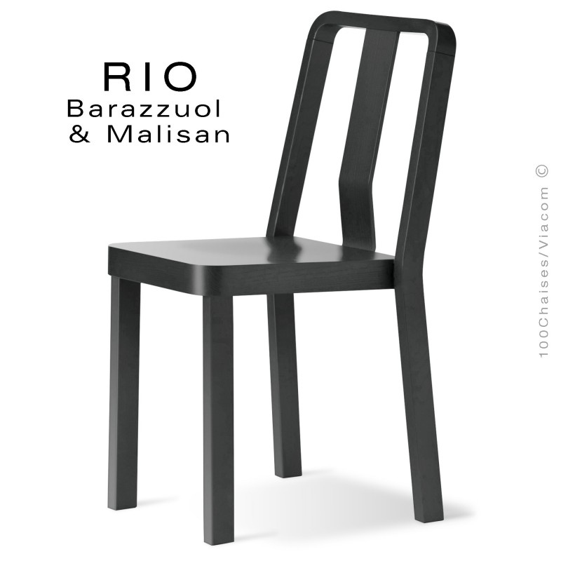 Chaise RIO, en bois de frêne peint noir