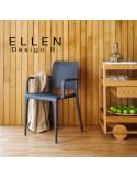 Chaise design ELLEN, en situation pour exemple.