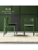 Chaise RIB 11, piétement en bois de frêne, assise garnie