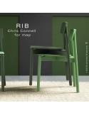 Chaise RIB, piétement en bois de frêne