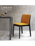 Collection URBAN, chaise, fauteuil en bois de frêne, peint ou teiné, simple ou garnie.