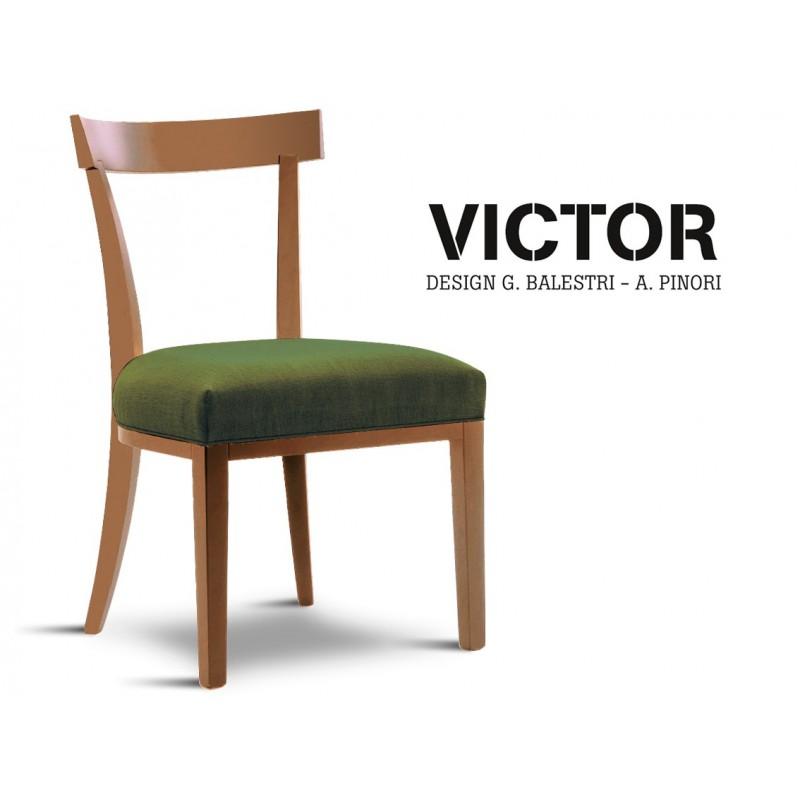 chaise en bois pour h tel retaurant victor assise garnie. Black Bedroom Furniture Sets. Home Design Ideas
