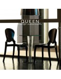 Chaise design QUEEN, plastique opaque noir (lot de 6 chaises).