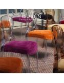 Chaise design QUEEN, plastique transparente (lot de 6 chaises).