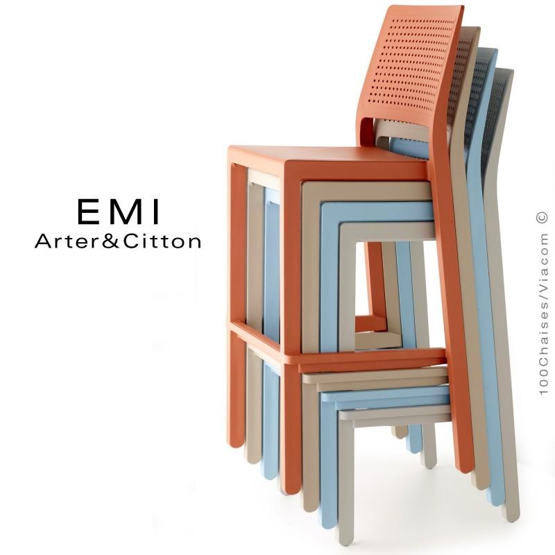 tabouret de bar emi pour ext rieur terrasse et jardin. Black Bedroom Furniture Sets. Home Design Ideas