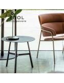 Collection de table TOOL, structure en acier peint métallique.