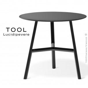 Table TOOL 45, structure en acier peint noir.