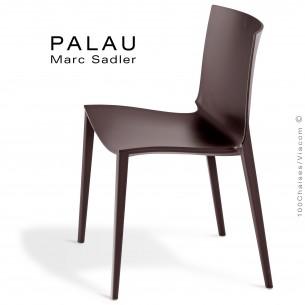Chaise PALAU, structure plastique, 4 pieds monobloc couleur argile.
