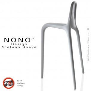 Tabourets design NONO, structure plastique en polypropylène couleur gris.