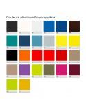 """Palette couleur plastique polypropylène pour tabouret design """"Le 2525""""."""