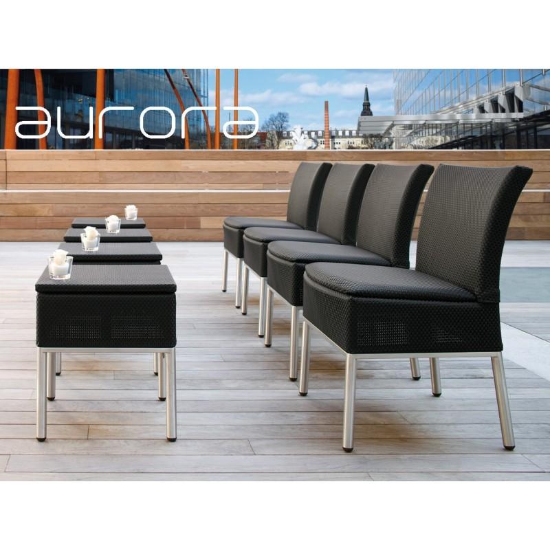 Chaise de terrasse ou jardin AURORA structure aluminium assise ...