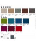 Fauteuil lounge PRIVÉE, gamme tissu King-LK du fabricant FIDIVI, couleurs aux choix.