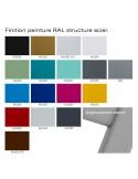 Nuancier couleur peinture piétement acier pour tabouret de bar ou cuisine ARTY, couleur au choix.