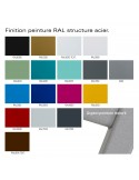 Palette peinture pour structure acier pour tabouret de bar MOU-SW75 assise coque plastique couleur.