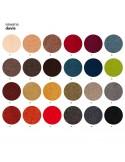 Palette couleur tissu SAWANA pour finition banquette design NOMAD, piétement bois teinté au choix.