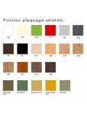 Palette finition placage stratifié pour plateau table PYRAMIDE pour CHR., piétement fonte d'aluminum peint.