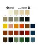 Palette couleur cuir naturel habillage banc d'attente 7 places ADN.