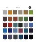 Palette couleur type tissu, gamme Gravity du fabricant CAMIRA, habillage banc d'attente 7 places - ADN.