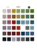 Palette couleur type feutre 100% laine, gamme Blazer-3, habillage banc d'attente 7 places - ADN.