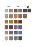 Palette couleur type tissu, gamme Class du fabricant FIDIVI, habillage banc d'attente 7 places - ADN.