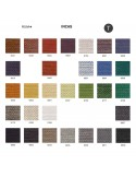 Palette couleur type tissu, gamme Incas du fabricant FIDIVI, habillage banc d'attente 7 places - ADN.