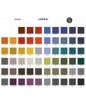 Palette couleur type tissu, gamme Laser-N du fabricant FIDIVI, habillage banc d'attente 7 places - ADN.