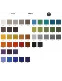 Palette couleur type tissu, gamme Maya du fabricant FIDIVI, habillage banc d'attente 7 places - ADN.