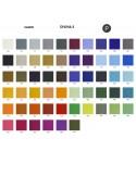 Palette couleur type tissu, gamme Divina-3 du fabricant KVADRAT, habillage banc d'attente 7 places - ADN.