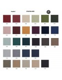 Palette couleur type tissu, gamme Divina-MD du fabricant KVADRAT, habillage banc d'attente 7 places - ADN.