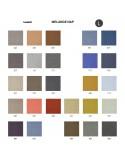 Palette couleur type tissu, gamme Melange-NAP du fabricant KVADRAT, habillage banc d'attente 7 places - ADN.
