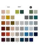 Palette couleur type tissu, gamme Merit du fabricant KVADRAT, habillage banc d'attente 7 places - ADN.