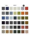 Palette couleur type tissu, gamme Remix-2 du fabricant KVADRAT, habillage banc d'attente 7 places - ADN.