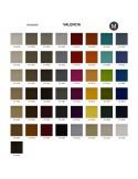 Palette couleur cuir synthétique, gamme Valencia du fabricant SPRADLING, habillage banc d'attente 7 places - ADN.