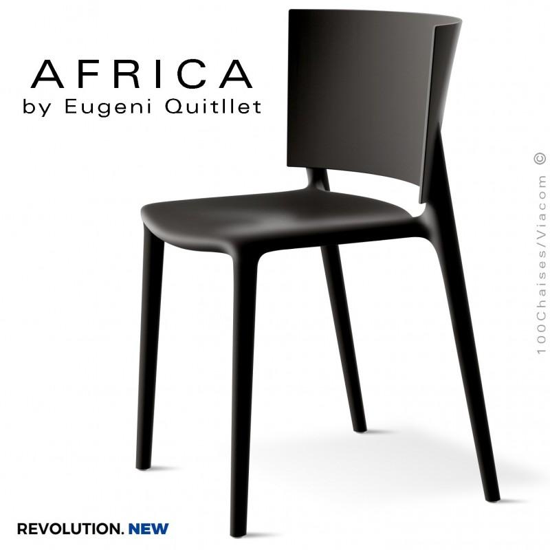 Chaise d'extérieur ou terrasse AFRICA, structure et assise coque plastique recyclé, couleur MANTAS.