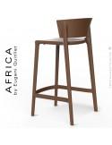 Tabouret de cuisine ou d'extérieur AFRICA, structure et assise coque plastique couleur bronze.
