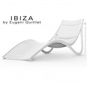 Bain de soleil design IBIZA, structure plastique couleur blanc.