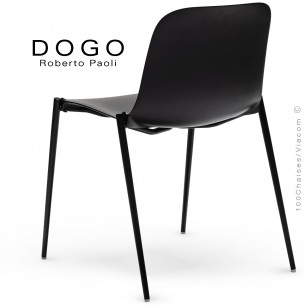 Chaise DOGO, structure peint anthracite, assise plastique anthracite.