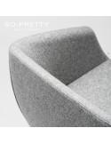 Fauteuil design SO-PRETTY, habillage tissu OPERA.